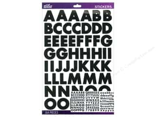 Alphabet Stickers / Number Stickers: EK Sticko Alphabet Stickers Bold Large Futura Black