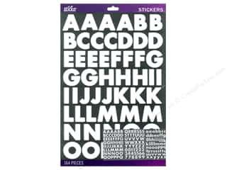 EK Sticko Alphabet Stickers Bold Large Futura White