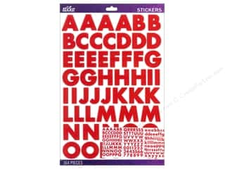 EK Sticko Alphabet Stickers Bold Large Futura Red
