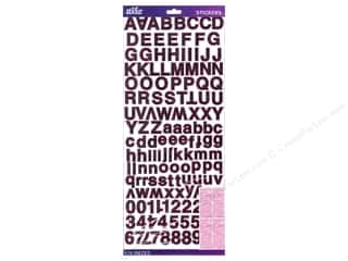 ABC & 123 Think Pink: EK Sticko Stickers Alpha Value Pack Helvetica Standard Foil Pink