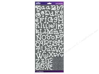 EK Success ABC & 123: EK Sticko Alphabet Stickers Gas Alley Glitter White