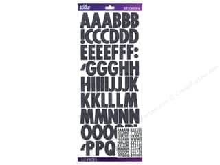 Glitter Black: EK Sticko Alphabet Stickers Futura Glitter Black