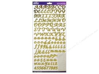EK Success ABC & 123: EK Sticko Alphabet Stickers Script Value Pack Foil Gold