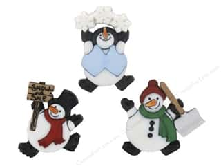 Jesse James Buttons Novelty Buttons: Jesse James Embellishments Roly Poly Snowman