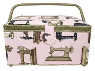 Grace Company, The Sewing Gifts & Gift Notions: St Jane Sewing Baskets Medium Rectangle Pink