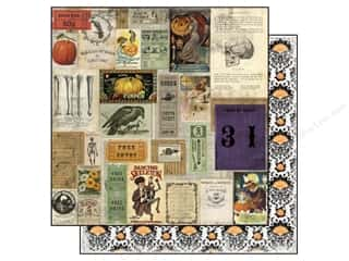 "Halloween Clearance Patterns: Marion Smith Wicked Time Collection Paper 12""x 12"" Raven (20 pieces)"