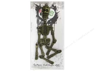 Marion Smith Beading & Jewelry Making Supplies: Marion Smith Wicked Time Collection Charms Skeleton