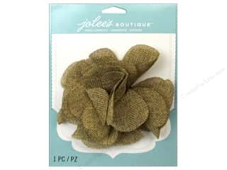 Borders EK Jolee's Boutique: EK Jolee's Boutique Le Fleur Flower Large Burlap
