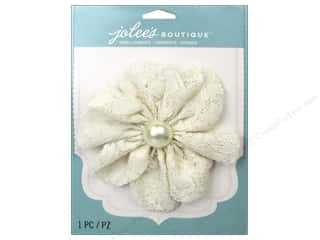EK Jolee's Boutique Le Fleur Flower Large With Gem Lace Cream