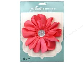 Hot off the Press Embellishment Flowers / Blossoms / Leaves: EK Jolee's Boutique Le Fleur Flower Large With Gem Coral