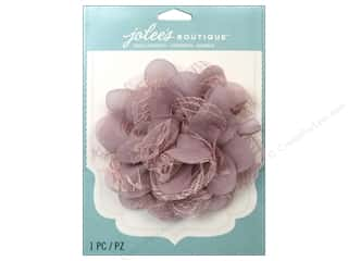 EK Jolee's Boutique Le Fleur Flower Large With Gem Lace Mauve