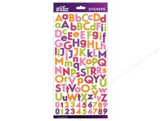 EK Sticko Alphabet Stickers Combo Glitter Small Bright