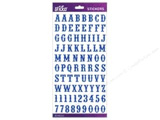 EK Sticko Alphabet Stickers Carnival Glitter Small Blue