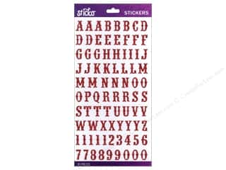 EK Sticko Alphabet Stickers Carnival Glitter Small Red