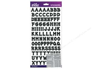 Alphabet Stickers / Number Stickers: EK Sticko Alphabet Stickers Dot Small Black
