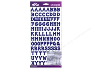 EK Sticko Alphabet Stickers Dot Small Blue