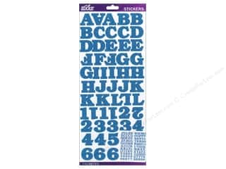 EK Sticko Alphabet Stickers Bookman Glitter Blue