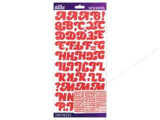 EK Sticko Alphabet Stickers Appetite Medium Coral