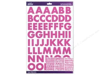 EK Sticko Alphabet Stickers Bold Large Futura Dark Pink