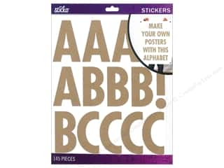EK Sticko Alphabet Stickers Futura Extra Large Kraft