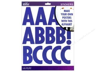 EK Sticko Alphabet Stickers Futura Extra Large Blue
