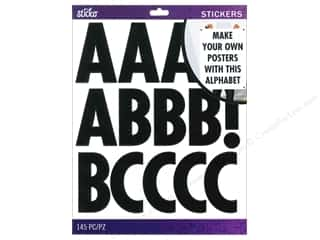 EK Sticko Alphabet Stickers Futura Extra Large Black