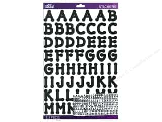 EK Sticko Alphabet Stickers Dot Large Black
