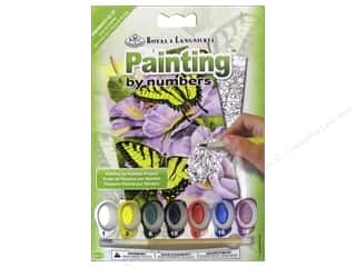 School Blue: Royal Paint By Number Mini Swallowtail Butterflies