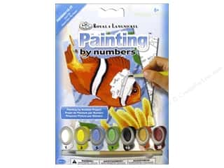 Royal Rub Ons Royal Paint By Number: Royal Paint By Number Mini Clown Fish