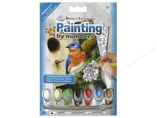 Royal Rub Ons Royal Paint By Number: Royal Paint By Number Mini Eastern Bluebird
