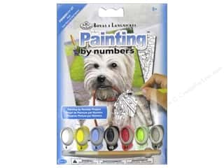 Royal Rub Ons Royal Paint Artist Acrylic: Royal Paint By Number Mini Westie