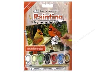 Royal Rub Ons Royal Paint Artist Acrylic: Royal Paint By Number Mini Cardinals