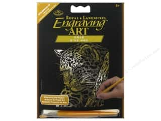 Rub-Ons Tool Sets: Royal Engraving Art Mini Leopard In Tree
