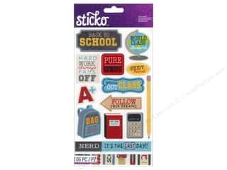 Back To School EK Sticko Stickers: EK Sticko Stickers Flip Pack School