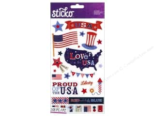 Memorial / Veteran's Day K&Co Sticker: EK Sticko Stickers Flip Pack Patriotic