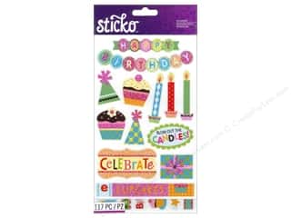 EK Sticko Stickers Flip Pack Birthday