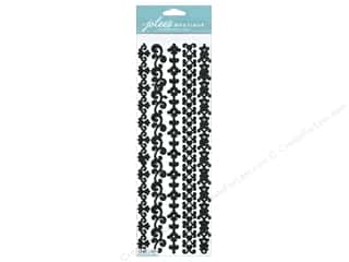 Glitter Black: Jolee's Boutique Stickers Border Silhouette Glitter Black