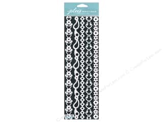 Borders $3 - $5: Jolee's Boutique Stickers Border Silhouette Glitter White
