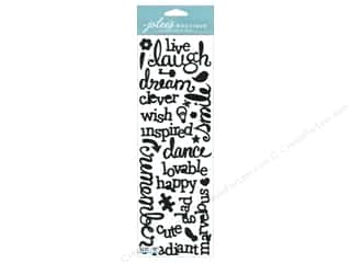 EK Jolee's Boutique Border Laugh & Love Glit Black