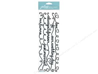 Glitter Black: Jolee's Boutique Stickers Border Word Wedding Glitter Black