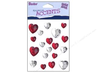 Hearts $0 - $3: Darice Stick On Rhinestones Heart 1 19pc