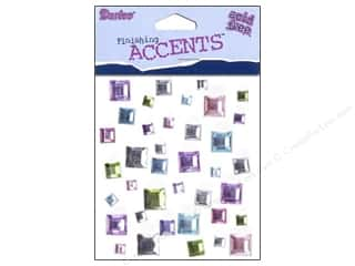 Darice Stick On Rhinestones Squares 2 37pc
