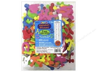 Darice Foamies Alphabet Stickers Dot to Dot 200 pc. Bright