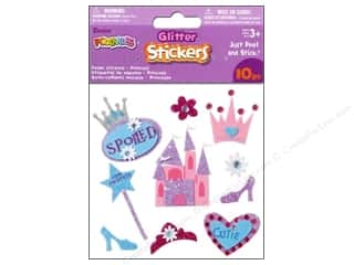 SRM Stickers $10 - $15: Darice Foamies Sticker 3D Glitter Princess 10pc
