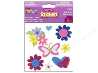 Darice Foamies Sticker 3D Glitter Flowers 8pc