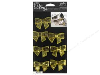 Jolee's Boutique Stickers Bling Gems Sequin Bows Gold