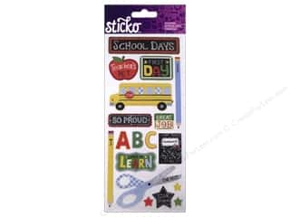 School Black: EK Sticko Stickers Icons & Words Large School