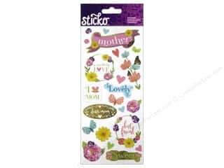 Mother's Day Flowers: EK Sticko Stickers Icons & Words Large Mom