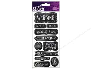 EK Success Wedding: EK Sticko Stickers Chalk Words Wedding