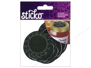 EK Sticko Sticker Labels Chalk Mason Jar